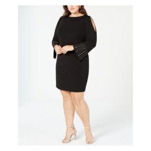 Jessica Howard Cold Shoulder Studded Sheath Dress